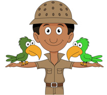 -clipart. Male Zookeeper .