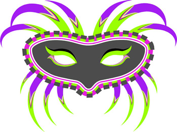 Clipart mardi gras jester .