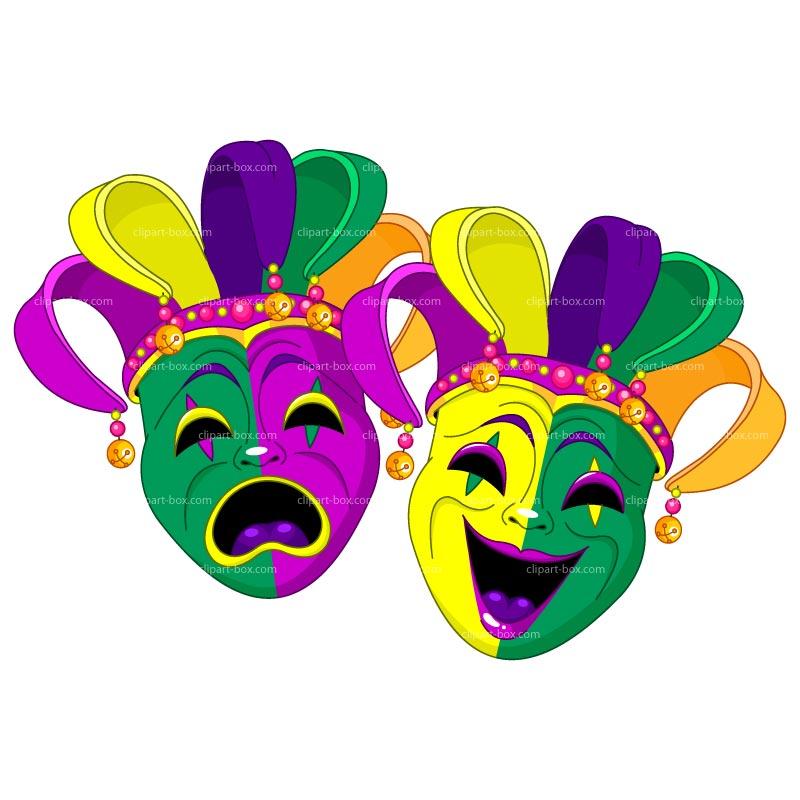 Clipart Mardi Gras Masks Royalty Free Vector Design