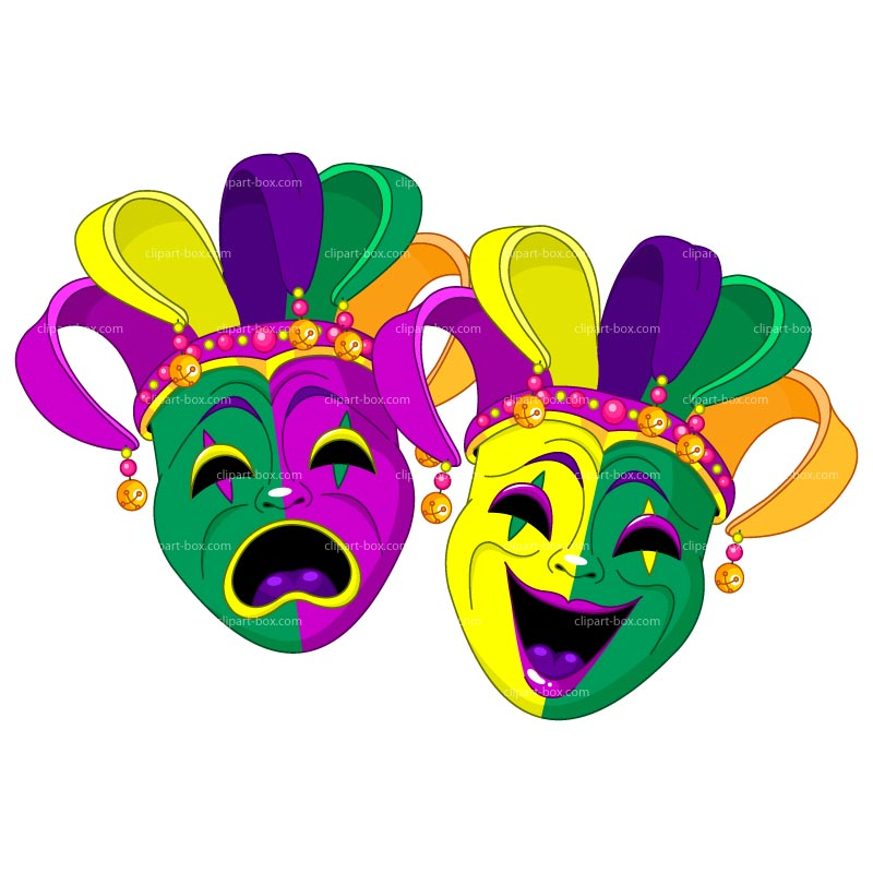 Clipart Mardi Gras Masks Royalty Free Vector Design