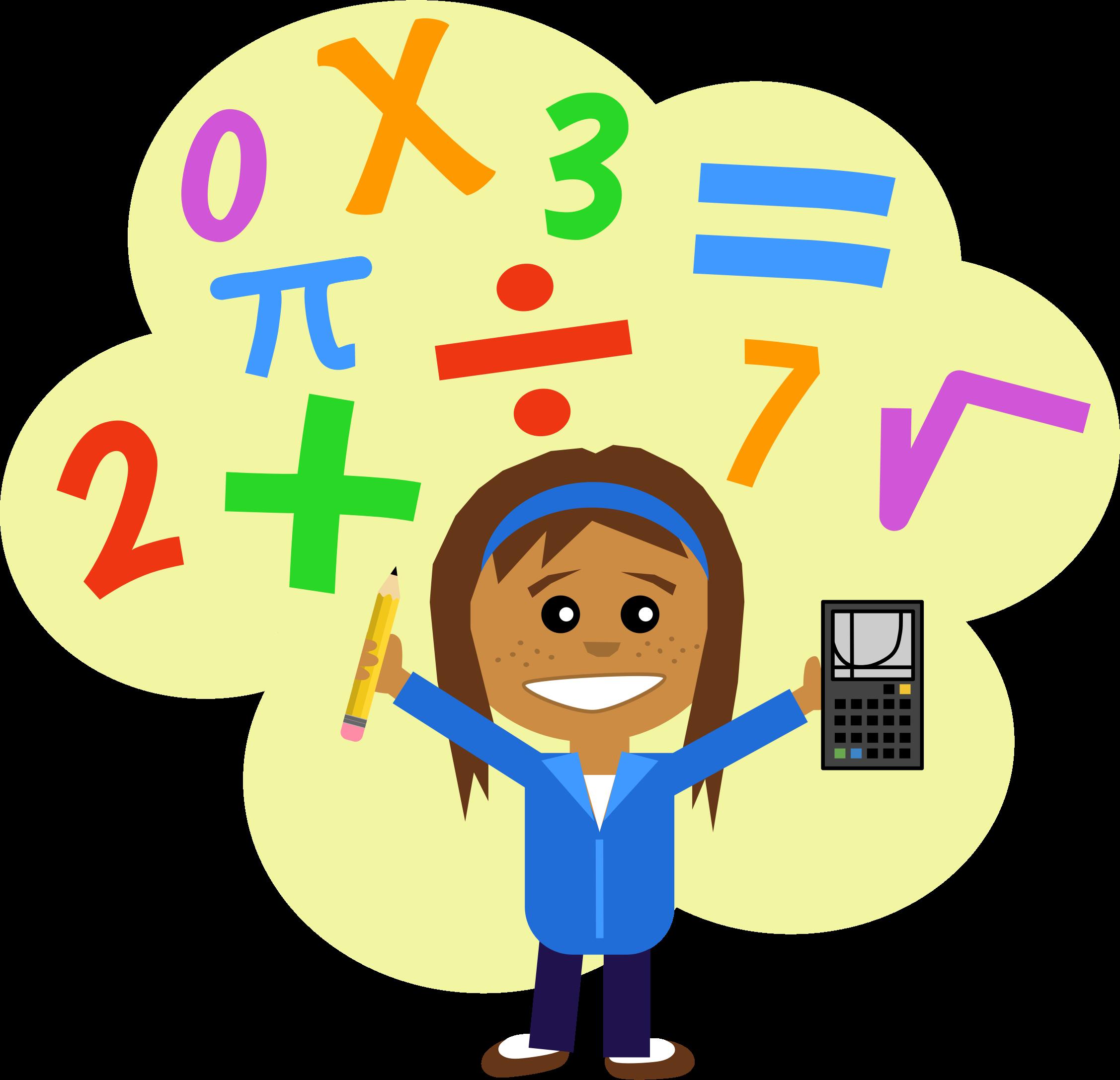 Clipart Math Girl