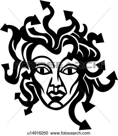 Clipart - , medusa, mythical, roman, myth, mythological, . Fotosearch -