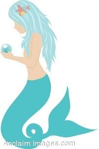 clipart mermaid, this would make a cute applique for an art quilt