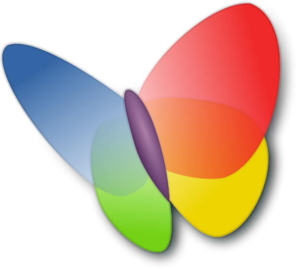 Clipart. MSN Butterfly Logo