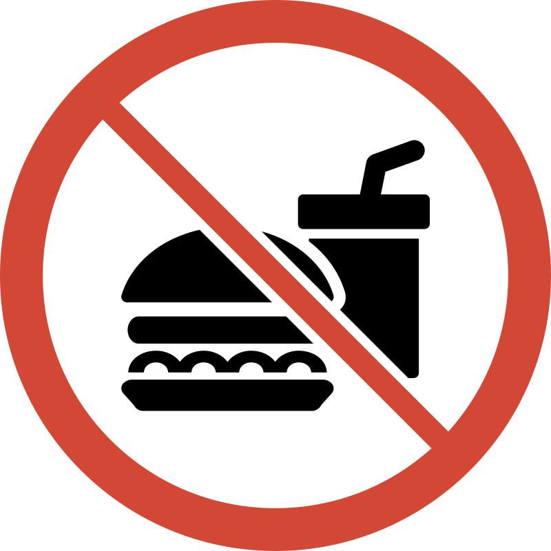 Clipart - No Food or Drink Sign-Clipart - No Food or Drink Sign-5