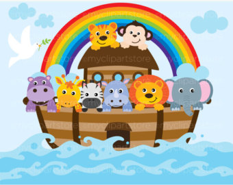 Clipart - Noahu0026#39;s Ark / Bible Stories / Christian - Digital Clip Art (Instant Download)