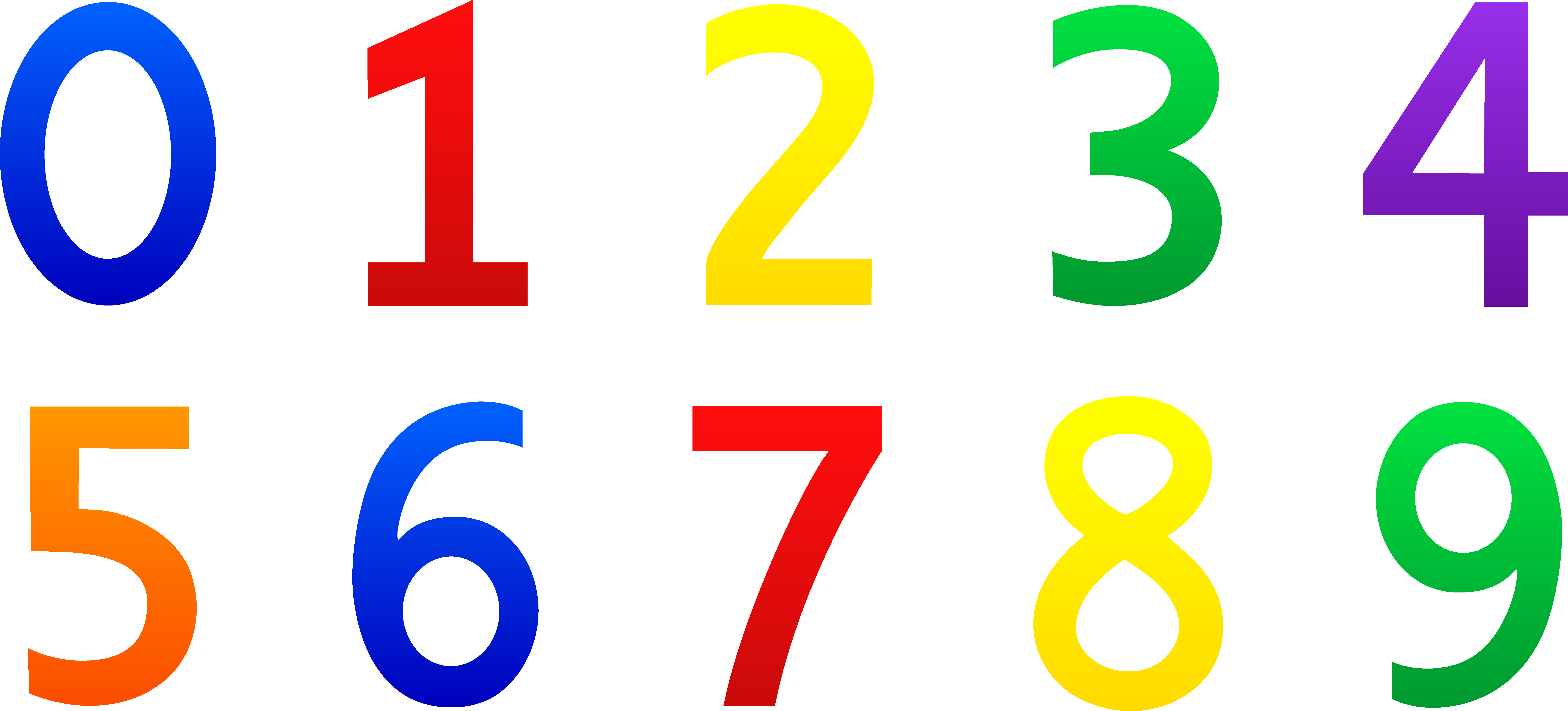 clipart numbers
