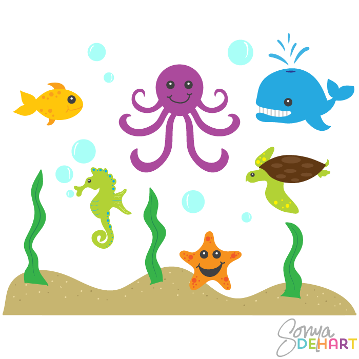 Clipart Ocean Animals Clip Art Ocean Ani-Clipart Ocean Animals Clip Art Ocean Animals And Sea-7