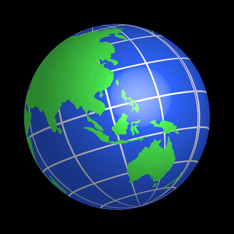 Clipart oceania world globe