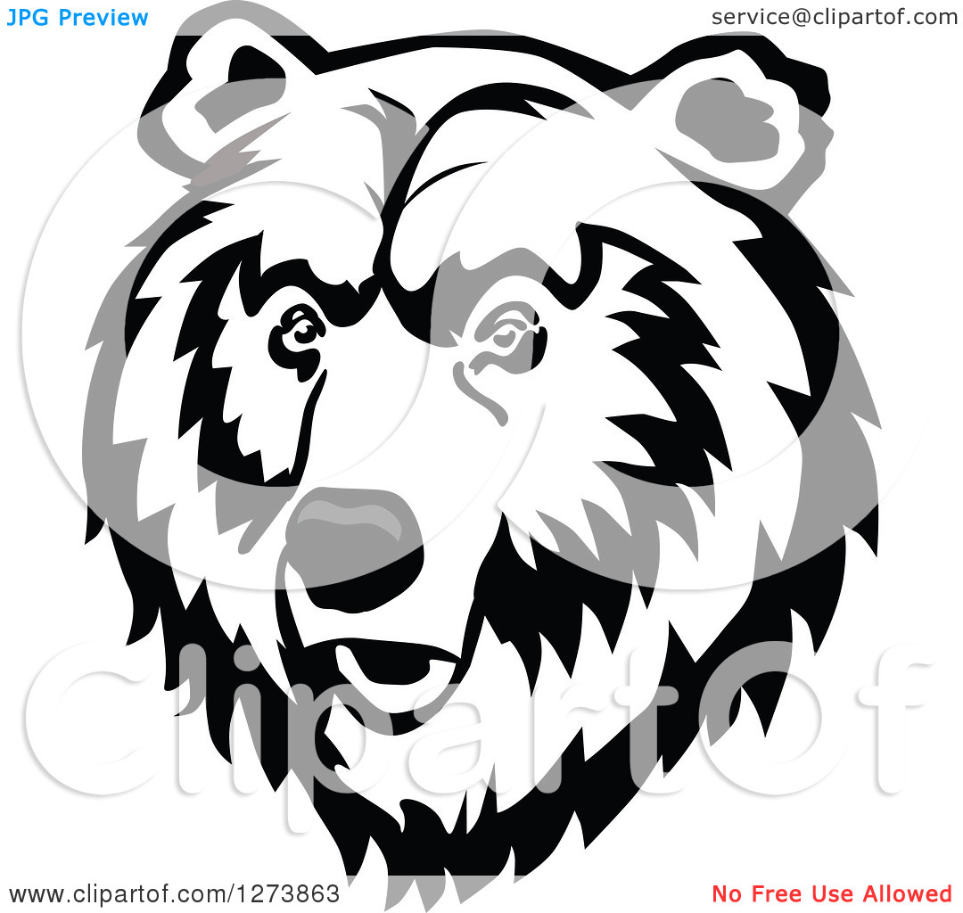Clipart of a Bear Face - Royalty Free Vector Illustration by Vector Tradition SM