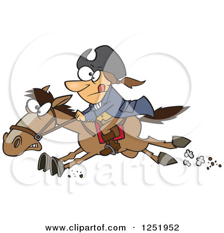 Clipart Of A Cartoon Paul Revere Riding -Clipart of a Cartoon Paul Revere Riding a Horse - Royalty Free Vector Illustration by Ron Leishman-4