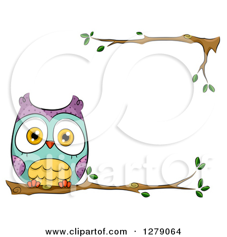 Clipart Of A Cute Perched Owl ..-Clipart Of A Cute Perched Owl ..-18