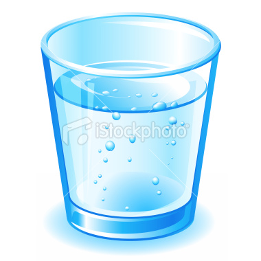 Clipart of a glass of water - .