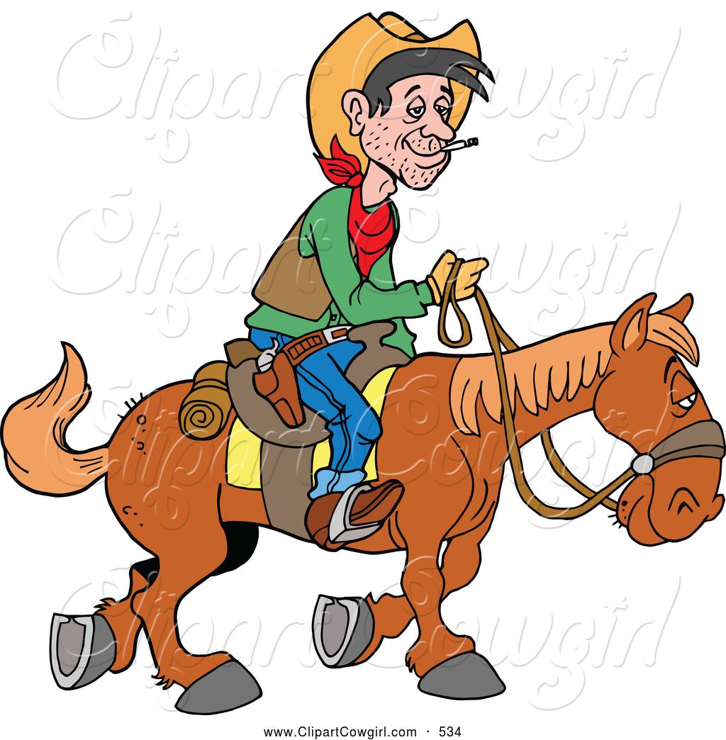 Clipart Of A Horseback Cowboy .-Clipart of a Horseback Cowboy .-1