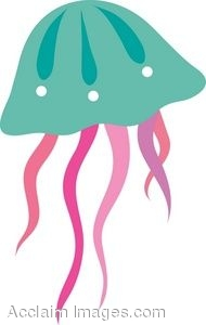 Clipart of a Jellyfish - Jelly Fish Clipart