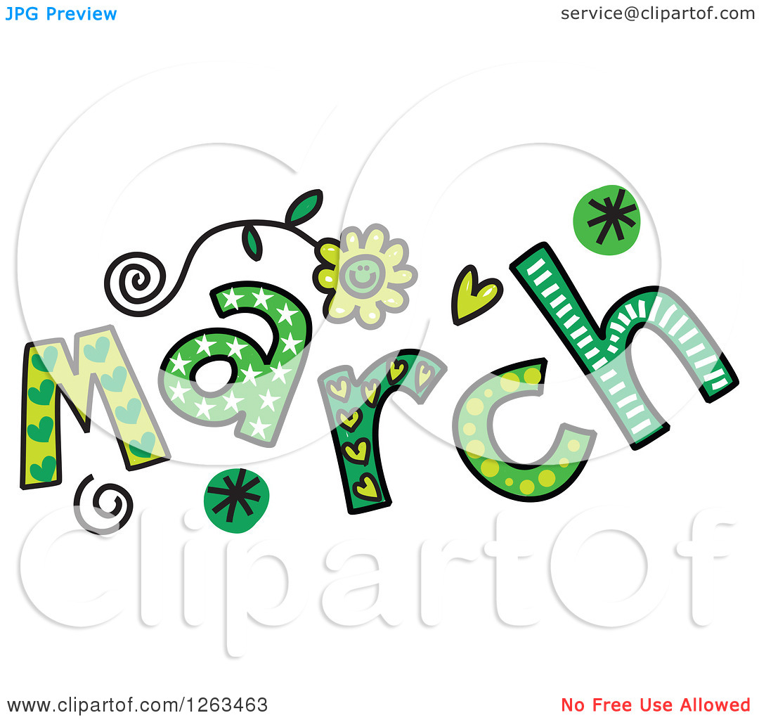 Clipart Of Colorful Sketched .