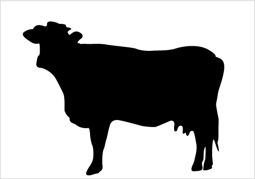 Clipart of cow silhouette