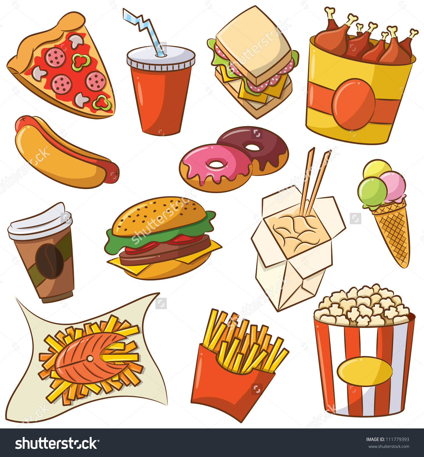 Clipart Of Junk Food - .-Clipart of junk food - .-0