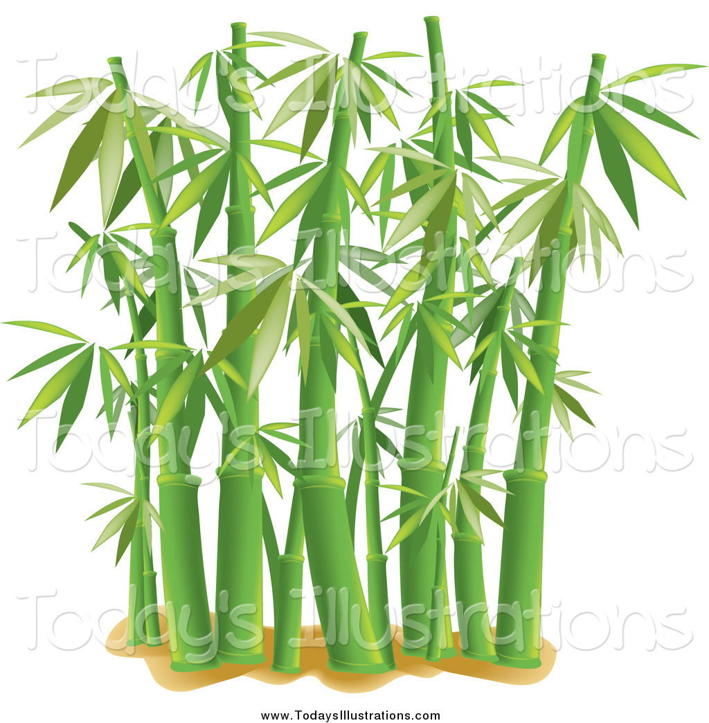 Clipart Of Lush Bamboo Stalks By Pams Clipart 5790 Jpg