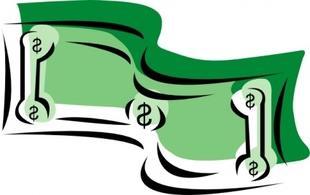 Clipart of money bills; Dollar ...
