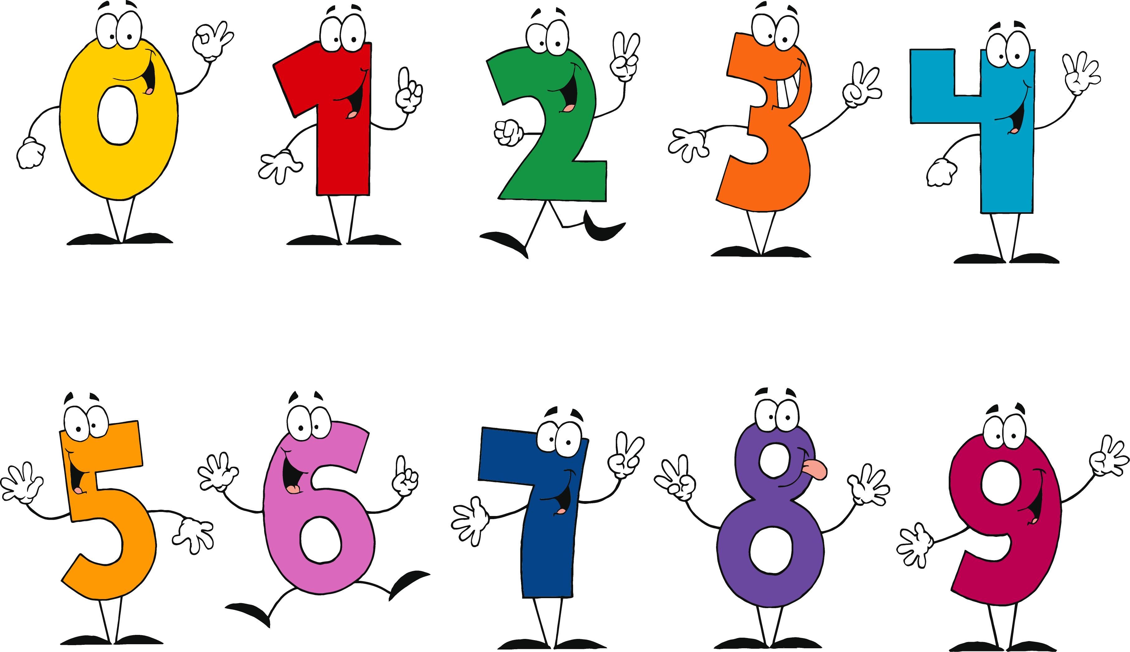 Clipart Of Numbers 1 10