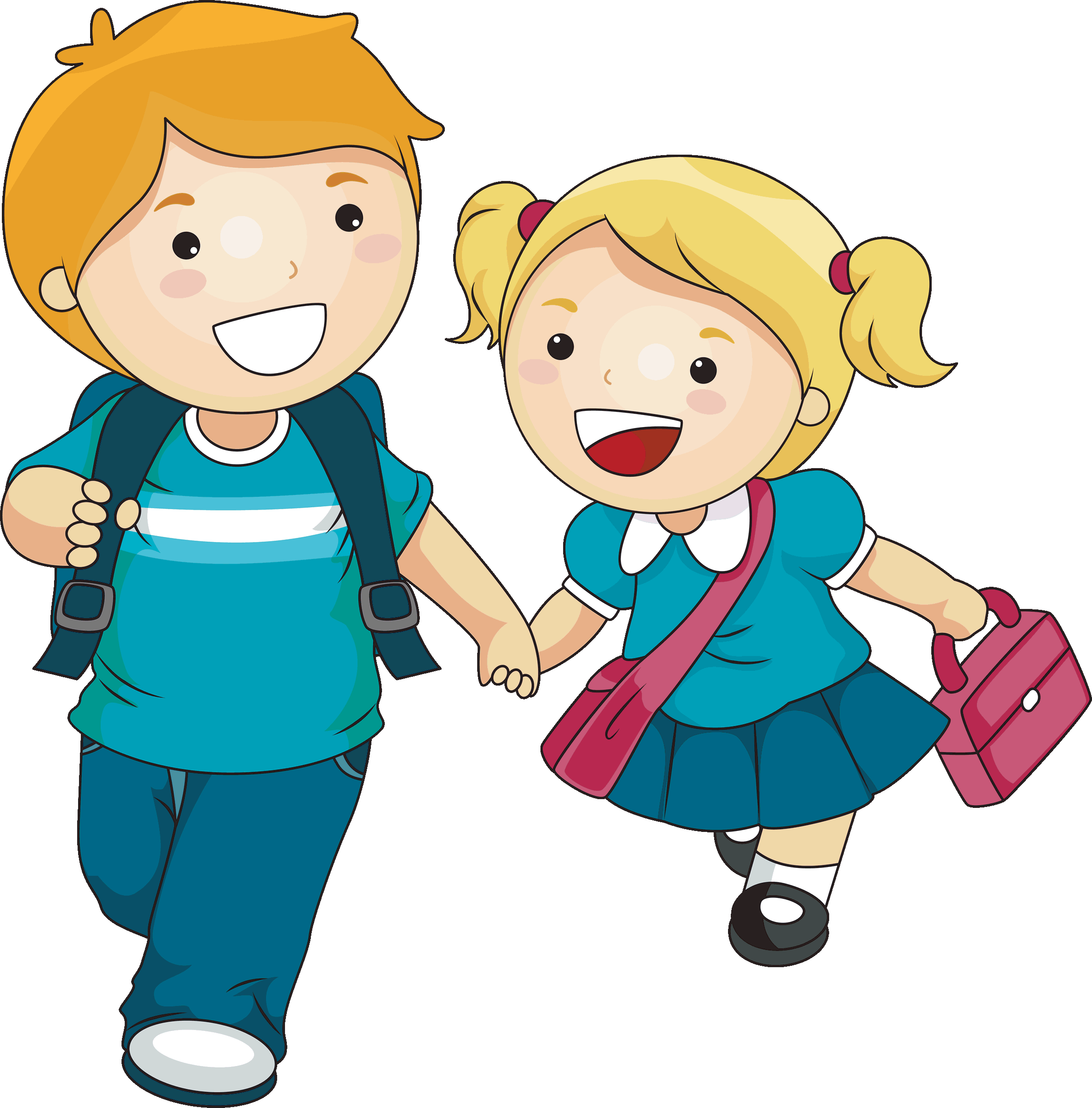 clipart of school children