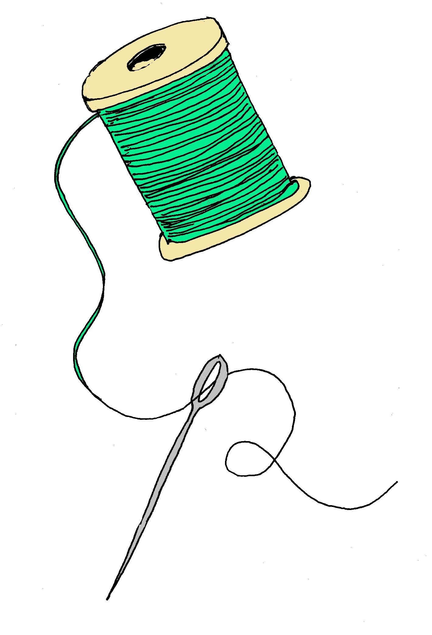 Clipart of sewing