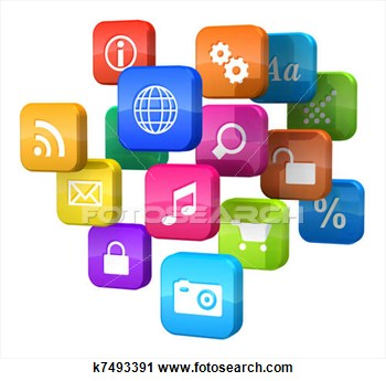 Clipart Of Software Concept Cloud Of Pro-Clipart Of Software Concept Cloud Of Program Icons K7493391 Search-10