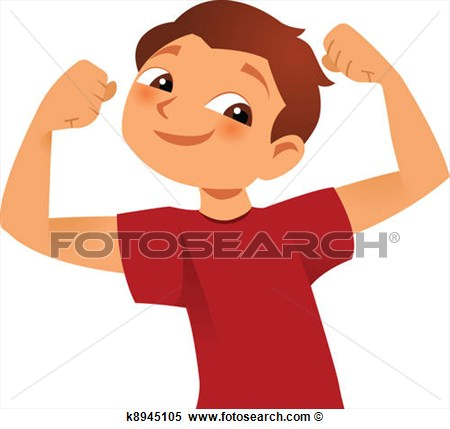 Clipart Of Strong Kid K8945105 Search Clip Art Illustration Murals