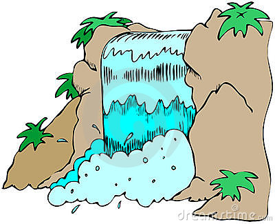 Clipart Of Waterfalls - Waterfall Clipart