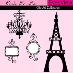 Clipart Ooh La La Paris Clip art Digital-Clipart Ooh La La Paris Clip art Digital by InkAndWhimsy2, $5.00-15