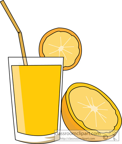 Clipart Orange Juice With A Half Of An Orange Classroom Clipart