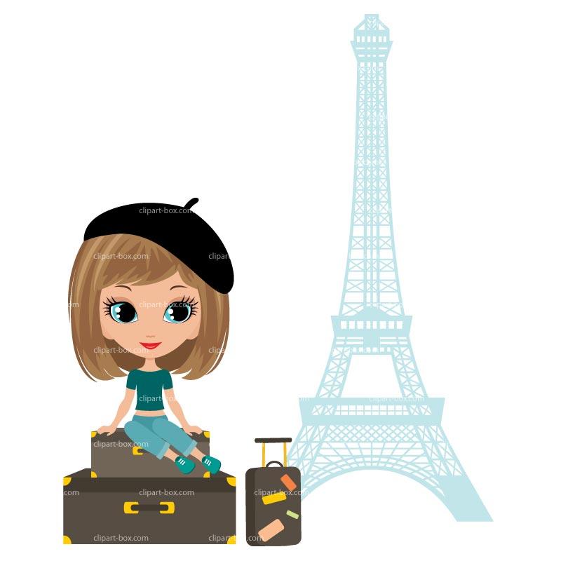 Clipart Paris Tourist Royalty Free Vector Design