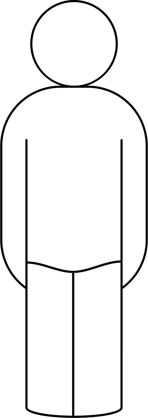 Clipart Person Outline Outline Vector Cl-Clipart Person Outline Outline Vector Clip Art-6