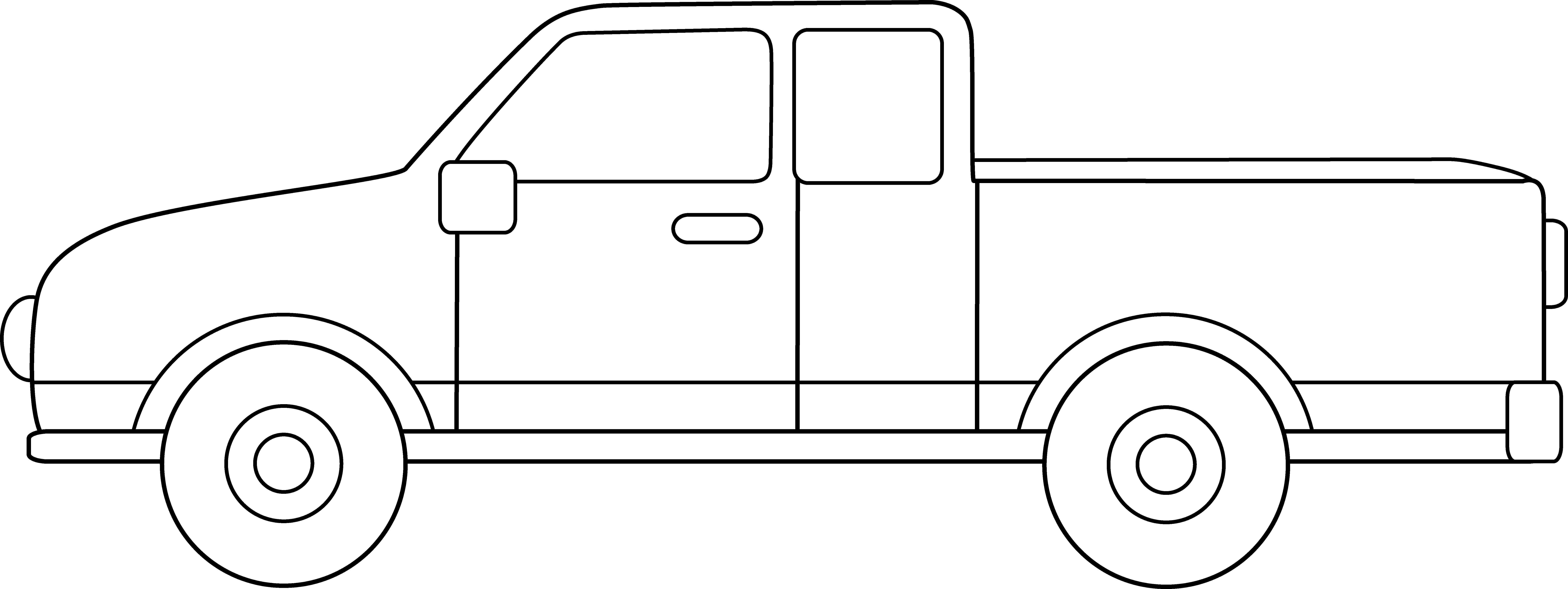 Clipart pickup ... Pickup Truck Coloring Page