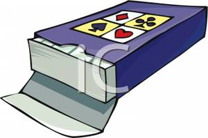 Clipart Picture: A Deck of Playing Cards
