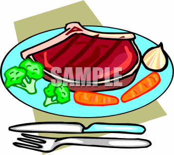 Clipart Picture of a Steak .