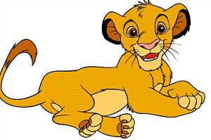 clipart picture of Simba from - Lion King Clip Art