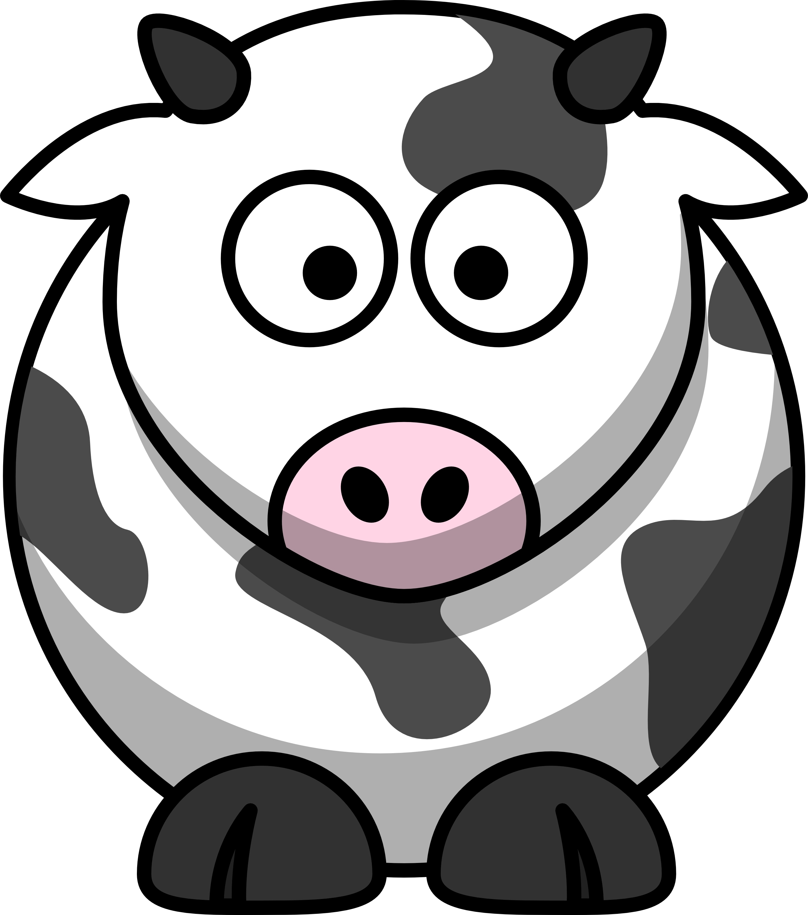 Clipart - Pig, Cow