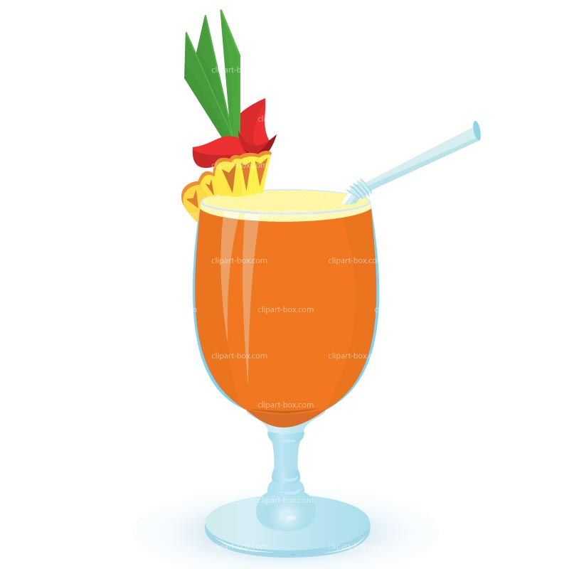 CLIPART PINEAPPLE COCKTAIL .