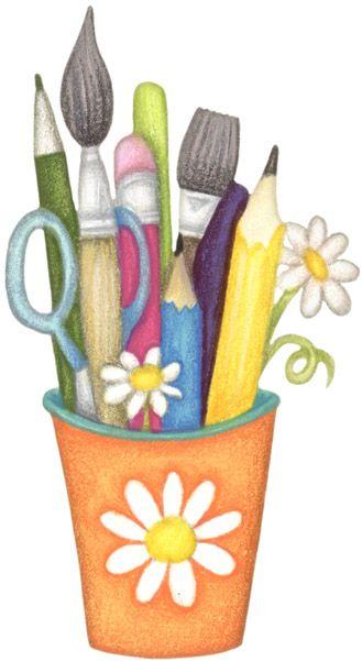 CLIPART | Pinterest | Pencil cup, Craft supplies and Clip art