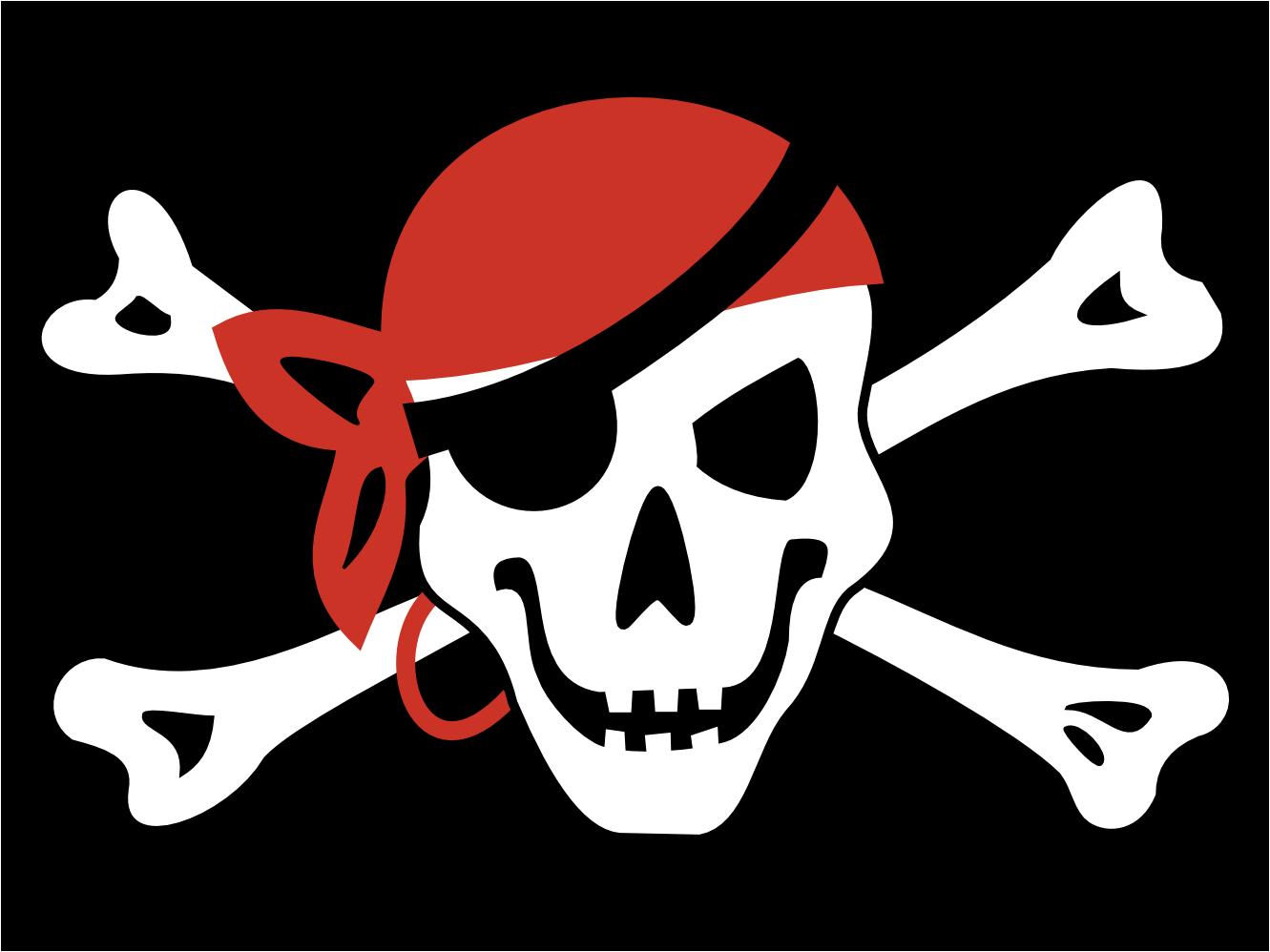 Clipart; Pirate Bandanna .-Clipart; Pirate Bandanna .-3