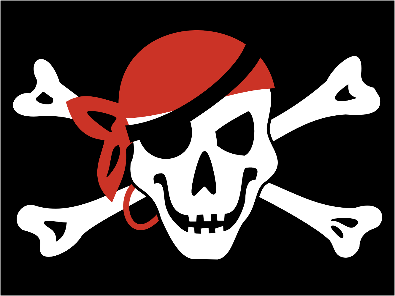 Clipart; Pirate Bandanna .