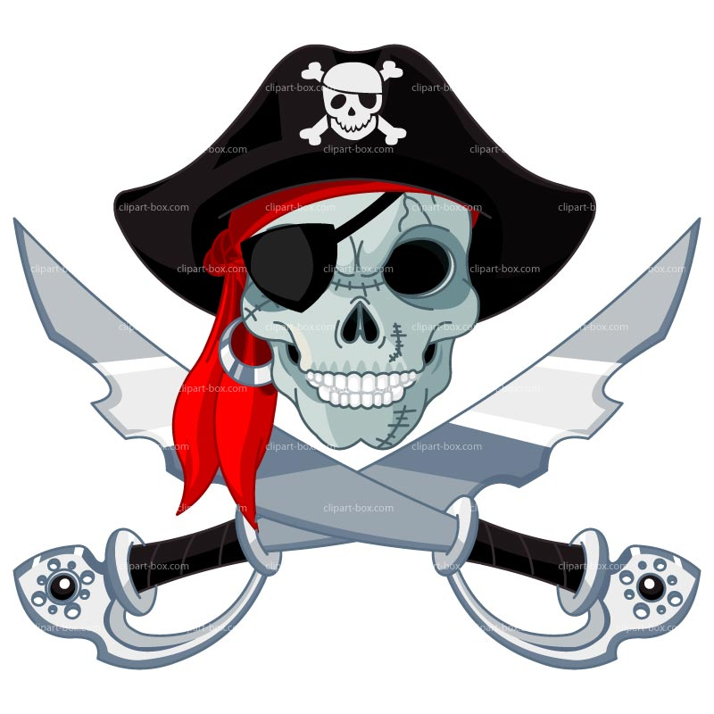 Clipart Pirate Head Swords Royalty Free Vector Design