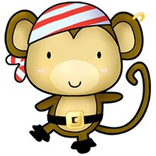 Clipart pirate on pirates picasa and album - Clipartix. Cute Monkey