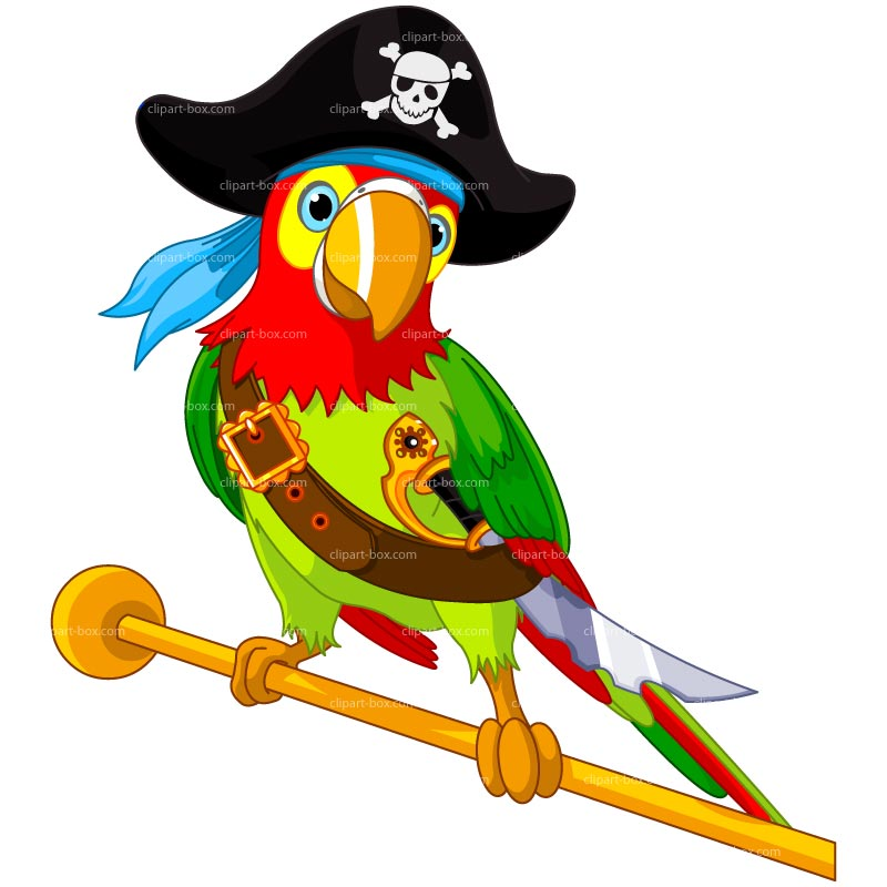 Clipart Pirate Parrot Royalty Free Vecto-Clipart Pirate Parrot Royalty Free Vector Design-1
