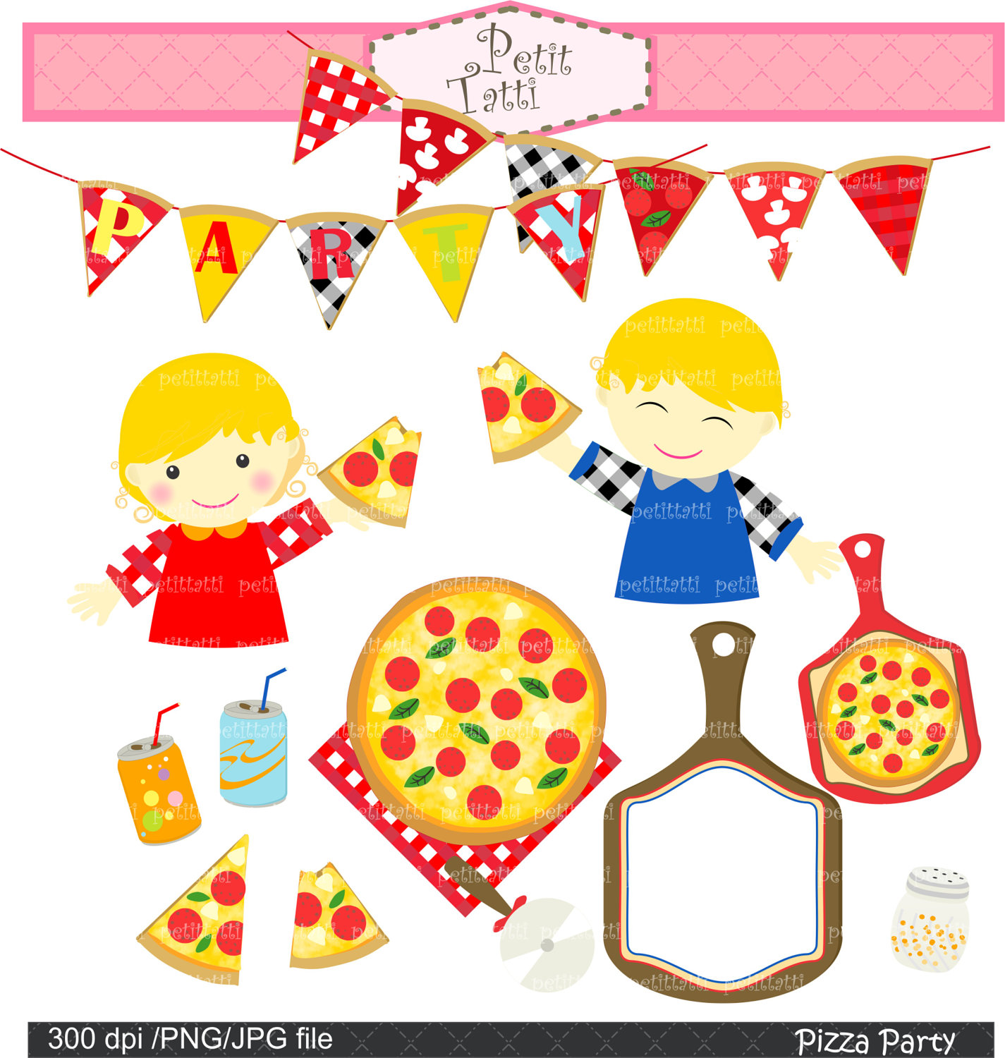 Clipart Pizza Party