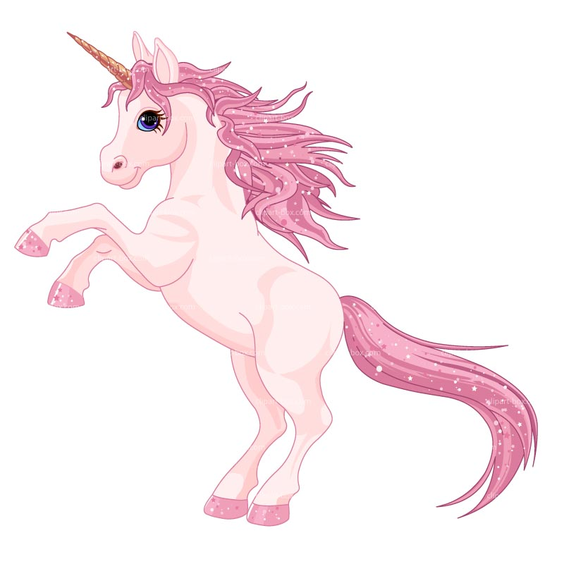 Clipart Prancing Unicorn Royalty Free Vector Design