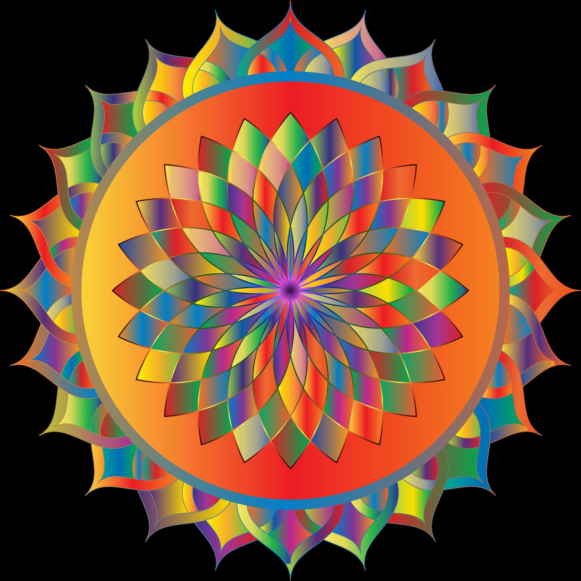 ... Clipart - Prismatic Mandala Line Art 3 ...