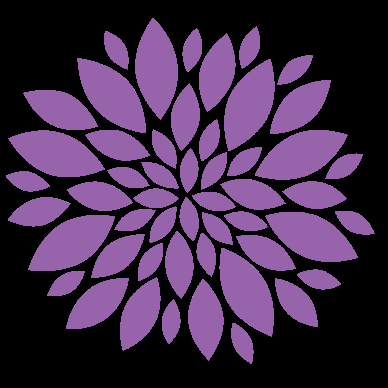 Clipart Purple Flowers Flowers L Image Vector Clip